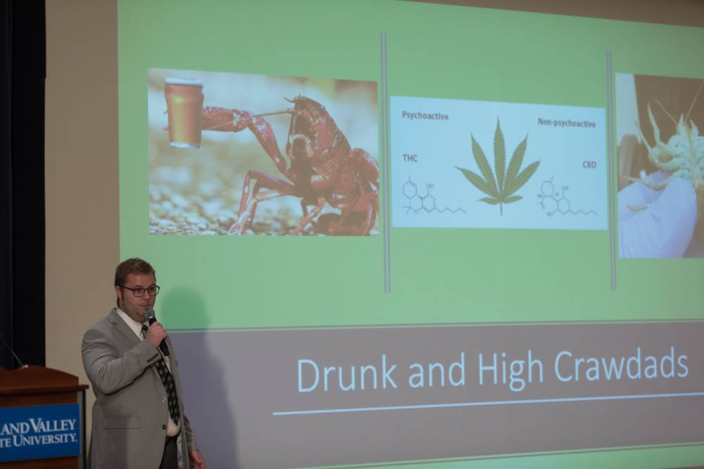 3MT Presenter #1 - Drunk and High Crawdads